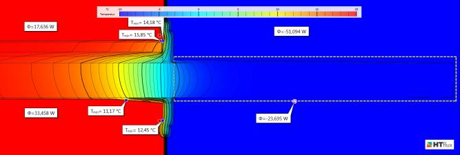 Balkon-ohne Isokorb-Wärmebrücke-unsaniert-Temperatur