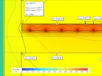 Temperaturansicht - Simulation einer Fußbodenheizung