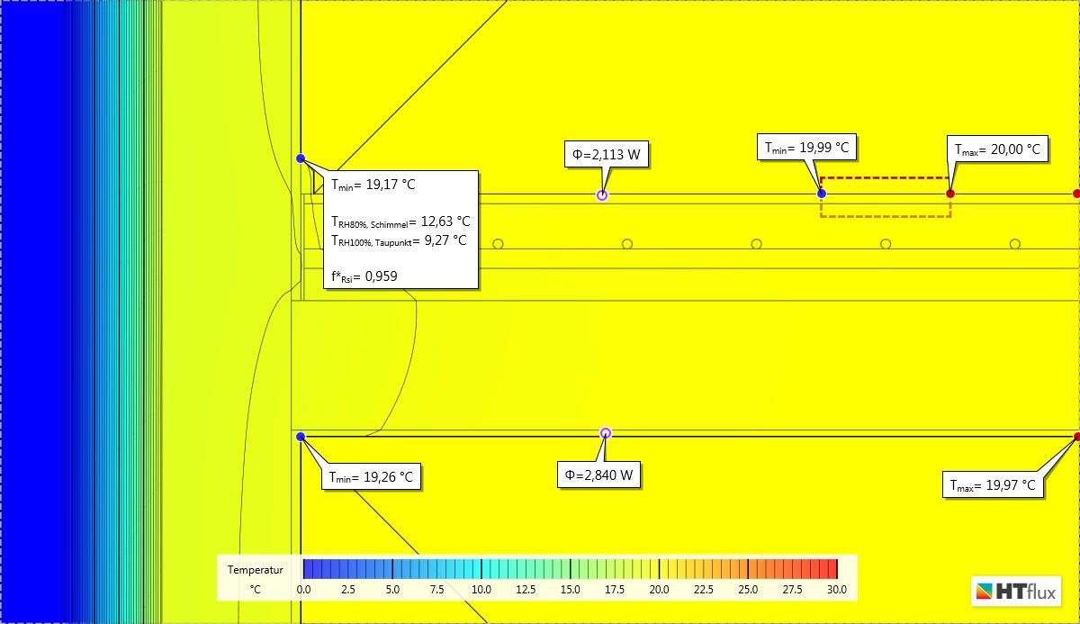 thermische simulation einer fu bodenheizung htflux. Black Bedroom Furniture Sets. Home Design Ideas