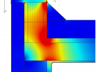 Thermal Bridging - Heat Flux - Detail view