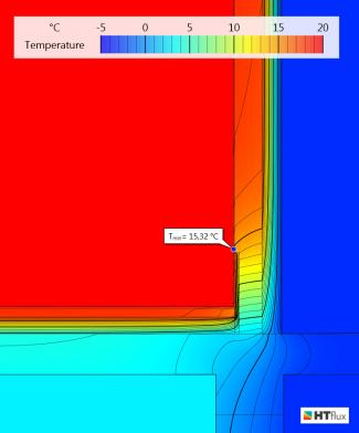 interior insulation-thermal bridge-mould-Temperature