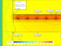 Temperature view - underfloor heating simulation