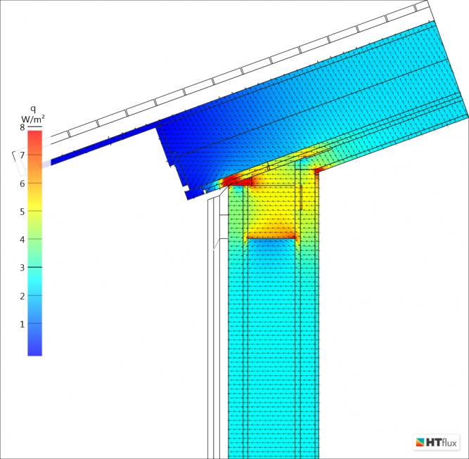 Timber Frame Eaves  thermal bridge Heat flux
