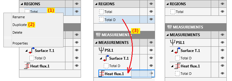 define region heat flux
