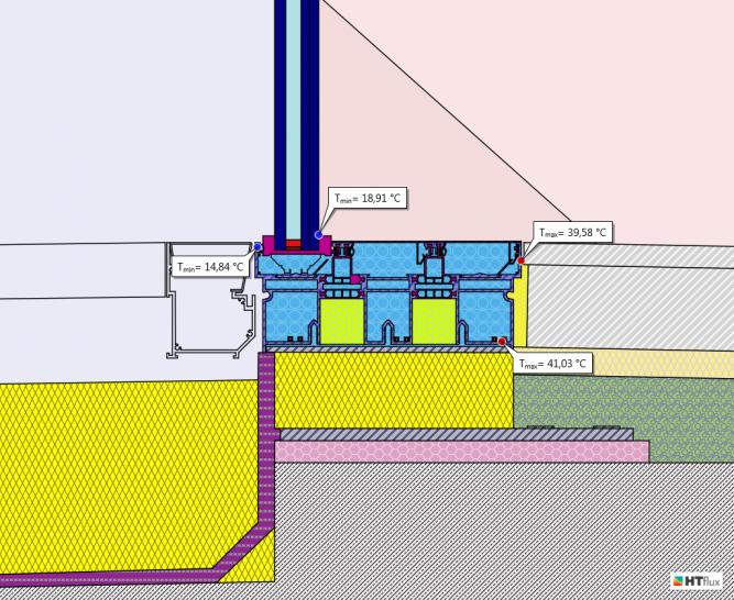 Window-frame-heating-indoor-pool