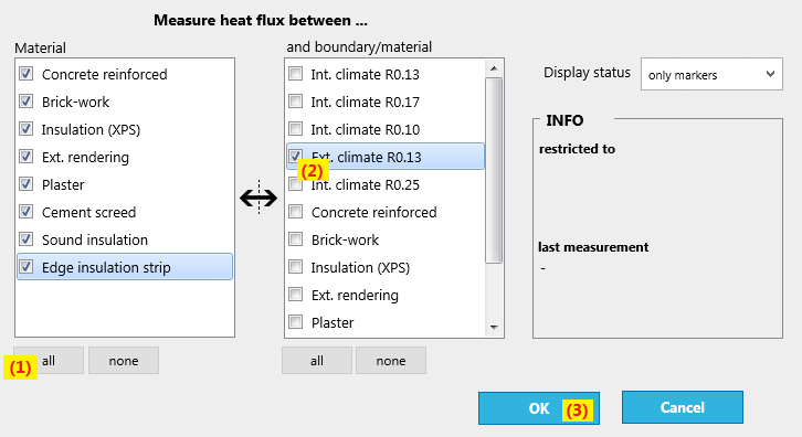 setup heat-flux measurement