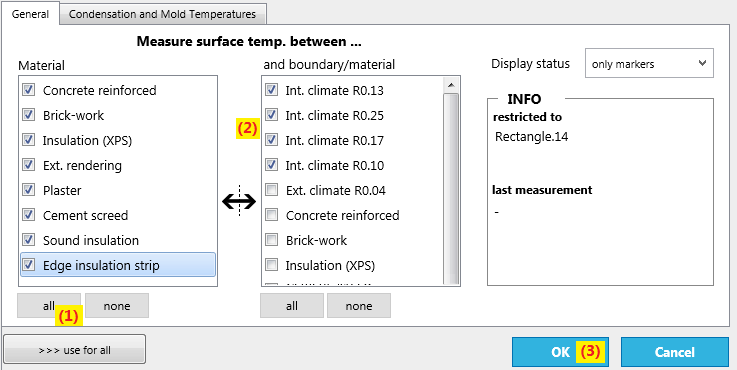 setup surface temperature tool