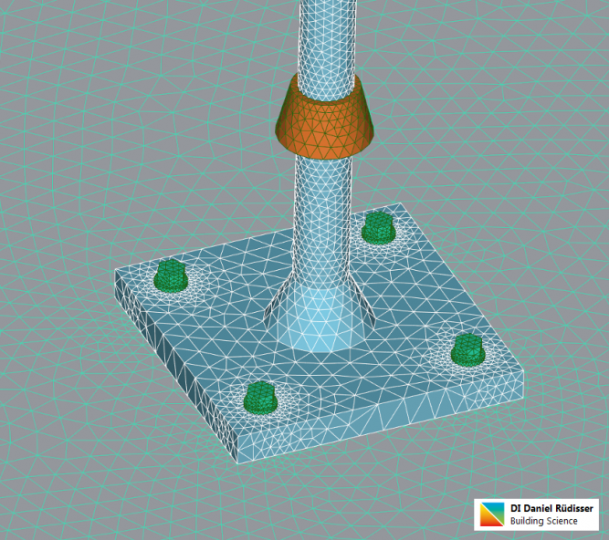 3d-FEM-Thermal simulation-Thermal bridge-mesh