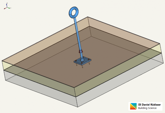 flat-roof-steel-anchor-post-finite elements-thermal simulation
