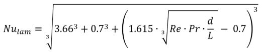 Nusselt formula-laminar-pipe-flow